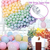 Coltum Rainbow balloons Balloon Arch Garland Assorted Pastel Colour 100 pcs 10 inch Macaron Coloured Latex Balloons Party Decorations,Girls Wedding Birthday Party Baby Shower Decoration ...