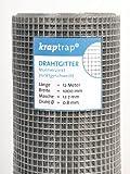 KrapTrap® Volierendraht, Drahtgitter, 12.7 mm Masche, 100 cm Breite, 12 m Länge Grundpreis 2,33 Eur/m