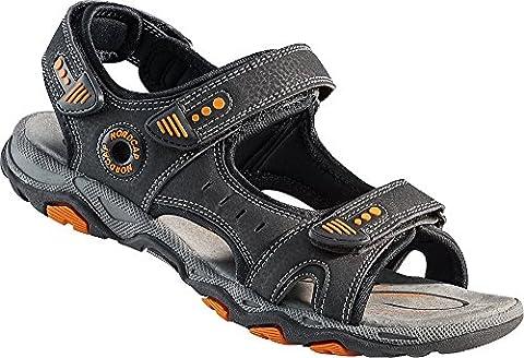 Nordcap Trekkingsandalen, Damen- und Herren-Sandalen, Wander- und Outdoor-Sandalen / mit regulierbaren Schnallen und Profilsohle für mehr Trittsicherheit (Größen: 37 - 46, Farbe: Grau / Orange)