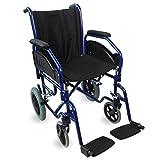 Fauteuil roulant pliant | Accoudoirs et repose pieds extractibles | Largeur du siège : 45 cm | Poids max.100 | Mod. Maestranza | Mobiclinic