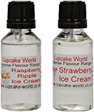 Raspberry Ripple Ice Cream and Strawberry Ice Cream Intense Food Flavours (Two 28.5 ml bottles)