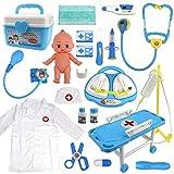 Buyger Maletin Medicos Juguete Disfraz de la Doctora Juego de rol Regalos para Niños (Azul)