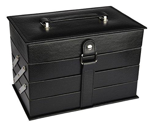 Briconti Schminkkoffer Beauty Case, schwarz, 1er Pack