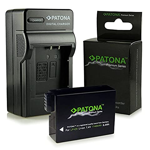 Chargeur + Premium Batterie LP-E8 pour Canon EOS 550D |