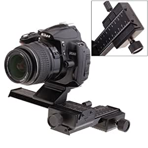 4 Way Support photographier PTZ Macro Focusing Focus Rail Slider Shot pour les appareils photos Nikon Canon Pe​ntax