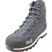 Jack Wolfskin Women's Wilderness Xt Texapore Mid W Wasserdicht High Rise Hiking Shoes, Grey (Ebony/Burgundy 6239), 6.5 UK