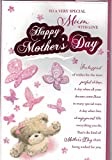 Mothers Day Cards ~ For A Lovely Mum On Mother's Day ~ Bears & Butterflies ~ 8 Pages Of Verses ~ Extra Large Card