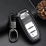 M. jvisun Weiche Silikon Karbonfaser Textur Muster Cover Protector für Audi Schlüsselanhänger, Car Keyless Entry Fernbedienung Schlüsselanhänger Fall für Audi A4L A5A6L A7A8S5S6S7S8RS5RS7Q5SQ5Funkschlüssel Schlüssel, Schwarz