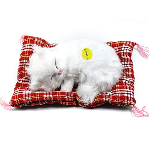 Caracteristicas:MATERIAL: Hecho de material de felpa de alta calidad, por lo que es muy suave y cómodo.REGALO MARAVILLOSO: Gran regalo para sus hijos, amigos y familiares.MEOW SOUND: es un artilugio de simulación de gato de animal y artesanía, cuando...