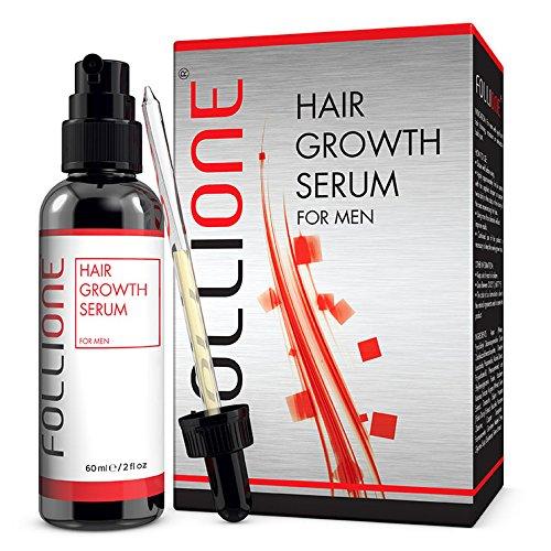 FolliOne - Haarwachstums-Serum für Männer gegen Haarausfall und dünner werdendes Haar - fördert Haarwuchs und Haardichte, 60ml (1-Monatspackung) -
