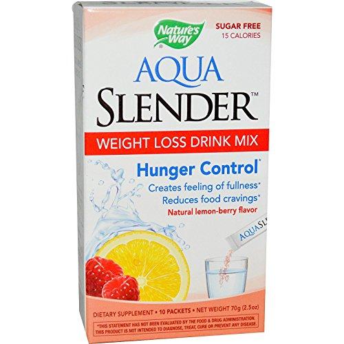 Nature's Way, Aqua Slender, peso perdita Drink Mix, sapore di limone-Berry, 10 pacchetti, 7 g ciascuna