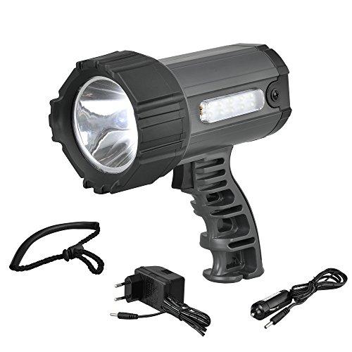 Preisvergleich Produktbild [lux.pro] LED HI-POWER AKKU-HANDLAMPE HANDSCHEINWERFER TASCHENLAMPE SUCHSCHEINWERFER SMD
