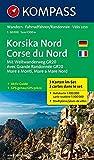Korsika Nord - Corse du Nord - Weitwanderweg GR20: Wanderkarten-Set mit Aktiv Guide. GPS-genau. 1:50000 (KOMPASS-Wanderkarten, Band 2250) -