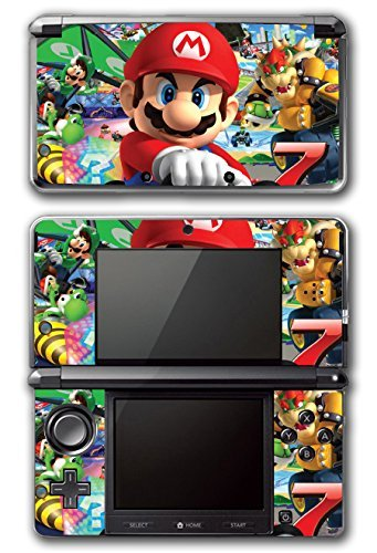 Mario Kart 8 Luigi Yoshi 7 Bowser Glider Video Game Vinyl Decal Skin Sticker Cover for Original Nintendo 3DS System by Vinyl Skin Designs