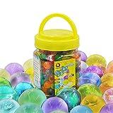 Große Wasser Gel Perlen 310g(300pcs) Riesige Jelly Wasser Perlen Regenbogenfarbige Mischung für Kinder Sensorische Spielzeug, Hochzeit und Wohndekoration, Pflanzen Vase Füller verkauft durch Jangostor