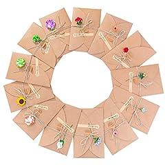 Idea Regalo - Biglietto di Auguri, Meersee 13pcs Biglietti di Auguri Vuoti con Buste Buste Cartoncini Augurali con Busta per Diverse Occasioni Auguri di Matrimonio, Compleanno, Inviti Lettera, Natale