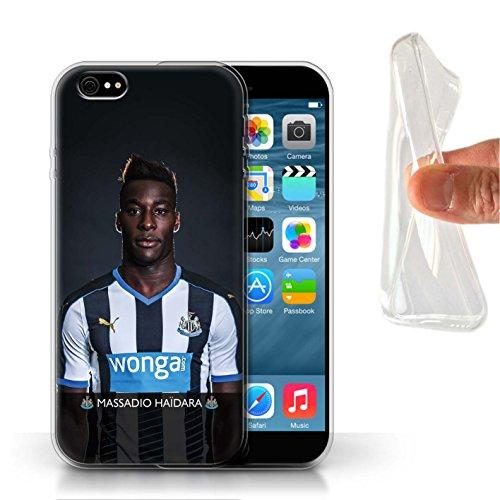 Offiziell Newcastle United FC Hülle / Gel TPU Case für Apple iPhone 6 / Rivière Muster / NUFC Fussballspieler 15/16 Kollektion Haïdara