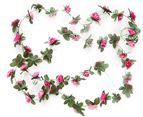 Künstliche Rosenranke, 2,3 m, Kunst-Kunststoff, Kunstseide, für Zuhause, Außenbereich, Hochzeit, Bogen Garten, Wanddekoration, 1 Stück