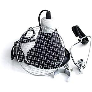 Mini Reflektor-Klemm-Lampe 14 cm + Schutzgitter , E27 Fassung
