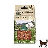 Wildes Land | Fleischwürfel Huhn | 100 g | Kausnack für Hunde | 70% Frischfleisch | 30% Gemüse & Beeren | Natürlich belohnen | getreidefrei | Hohe Akzeptanz | Frisches, schonend getrocknetes Fleisch