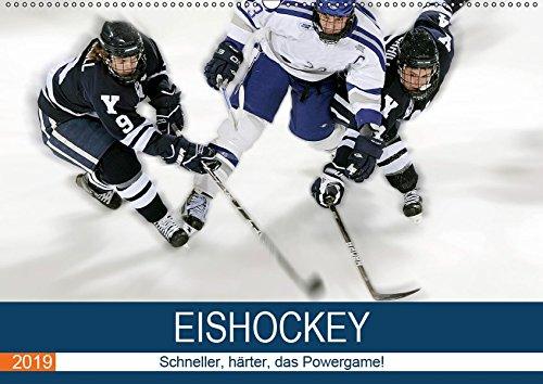 Eishockey! Schneller, härter, das Powergame! (Wandkalender 2019 DIN A2 quer): Heiße Action auf eiskaltem Eis! Das ist Eishockey live! (Monatskalender, 14 Seiten ) (CALVENDO Sport)