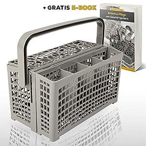 Nestor&Gamble | Universal-Besteckkorb mit innovativem 2 in 1 System für ALLE Spülmaschinen + GRATIS E-BOOK | Spülkorb für Geschirrspüler mit hitzebeständigem Kunststoff & extra stabilem Bodengitter