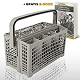 Nestor&Gamble   Universal-Besteckkorb mit innovativem 2 in 1 System für ALLE Spülmaschinen + GRATIS E-BOOK   Spülkorb für Geschirrspüler mit hitzebeständigem Kunststoff & extra stabilem Bodengitter