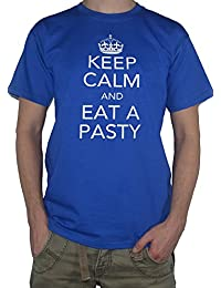 Keep Calm and Eat a Pasty Cornish Pastry Pastie T-Shirt by My Cup Of Tee