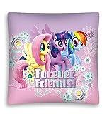 Kinder Kissenbezug mit My Little Pony Motiv - 40x40 cm - tolles Geschenk zu Weihnachten oder zum Geburstag (Mehrfarbig 01)