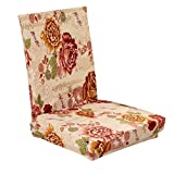 Imported Stretch Short Removable Dining Room Stool Chair Cover Slipcover Flower Sea