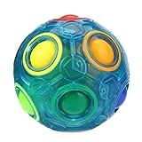 Elecenty Kinderspielzeug Baby Lernspielzeug Regenbogen Leuchtend Stressabbau-Magie Regenbogen Bal Spielzeug Puzzle Pädagogisches Spielzeug Jugendliche Erwachsene (6,5 cm, Blau)