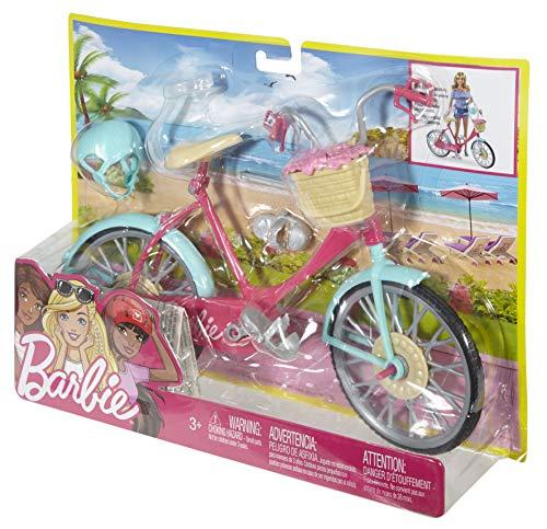 Barbie Mobilier Bicyclette pour poupée, vélo fourni avec...