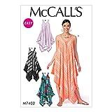 McCall's Patterns 7402ZZ Damenkleider, Tissue, mehrfarbig, Größen groß–2x Große