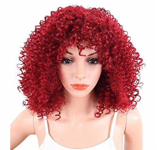 Dyan 14 '' Frau Perücke Kleine Locken BoBo Perücke Kopfbedeckung Rot -