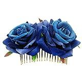 Little Finger Rose Haarspange Hochzeit, Brautjungfern Frauen Haarschmuck Brautschmuck Blumen Haar Kamm