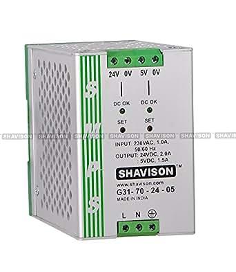 Shavison SMPS Dual output G31-70-24-05, I/P : 230VAC, O/P : +24V : 2A, +5V : 1.5A