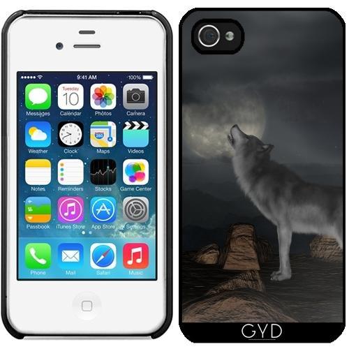 Leder Flip Case Tasche Hülle für Apple iPhone 6/6S - Wolf Tier Wildtier Niedlich by Grab My Art Starre Kunststoff