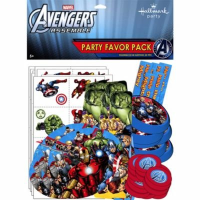 Captain Falcon Kostüm - Avengers Assemble Party Favour Pack (for 8 guests)
