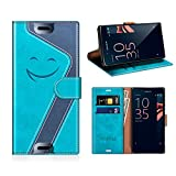 MOBESV Smiley Sony Xperia X Compact Wallet Case, Sony
