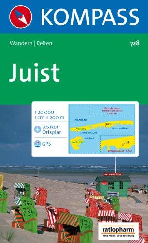 Insel Juist, 1 : 20 000: Wandern/Reiten. GPS geeignet. Mit Lexikon und Ortsplan 1 : 8 000. Mit Übersichtskarte Ostfriesische Inseln 1 : 200 000