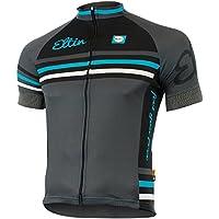 Eltin Maillot Torino II, Hombre, Negro/Gris/Azul, XL