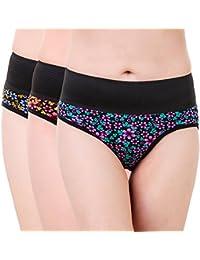 Masha Women Printed Multicolor Tummy Tucker Panties-PT3PC-108-M-P