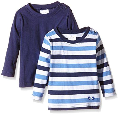 Twins Baby - Jungen Langarmshirt im 2er Pack, Gr. 56, Blau (Marine 194024)