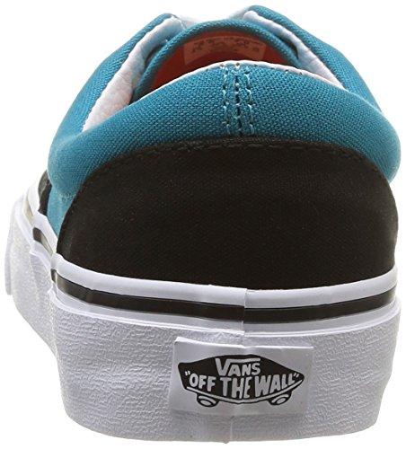 Vans U Era, Scarpe da Skateboard Unisex-Adulto Multicolore (Black/Pagoda Blue)