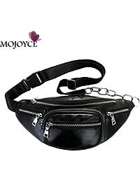 Buyworld Unisex Zipper Waist Pack Solid Crossbody Bags For Women Pu Shoulder Chest Bag Large Capacity Ladies Handbag... - B07F5X11LQ