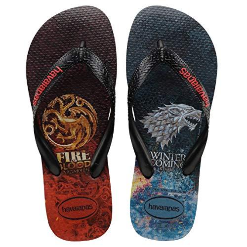Havaianas Top Game of Thrones Flip Flops - Black-UK 11/12
