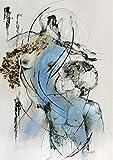 XIANRENGE Reine Handgemalte Ölgemälde Linie Abstrakte Frau Und Mann Paar Menschlichen Körper Kunst Charakter Bild Wohnzimmer Wohnkultur 70×120Cm