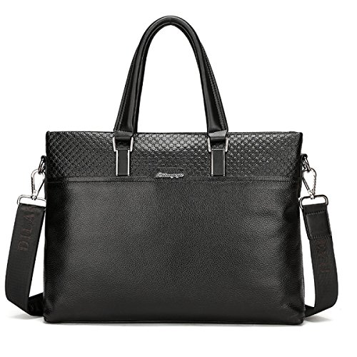 Leder Männliche Tasche Rindsleder Herren-Tasche Umhängetasche Messenger Bag Business Freizeit Diagonal-Paket Black