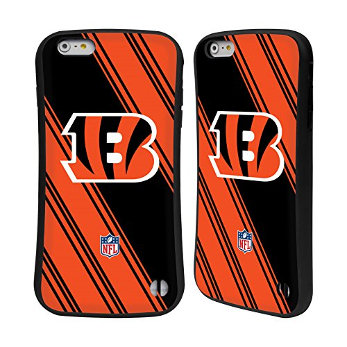 Ufficiale NFL LED 2017/18 Cincinnati Bengals Case Ibrida per Apple iPhone 5 / 5s / SE Righe