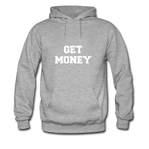 HKdiy Get Money Custom Men's Printed Hoodie Gray-2